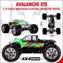 Avalanche XTE Truck 1/8 Electric (With 2.4GHz Remote Control)